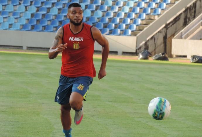 Thiago Santos - atacante Sampaio (Foto: Vinícius Bogea / Sampaio Corrêa)