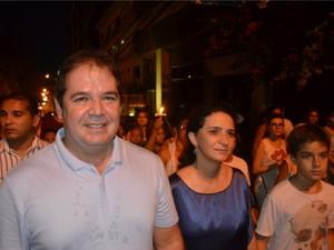 Tião Viana no Círio de Nazaré Acre (Foto: Yuri Marcel/G1)