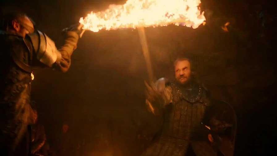 Beric e Cão de Caça (Foto: Reprodução/ HBO)