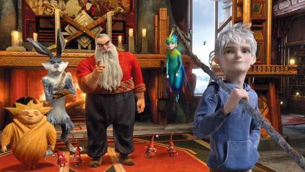 Papai Noel, o Coelhinho da Páscoa, a Fada do Dente, Sandman e Jack Frost em 'A Origem dos Guardiões' (Foto: Divulgação)