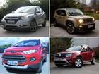 SUVs: EcoSport fica mais barato e Renegade encarece até R$ 5 mil