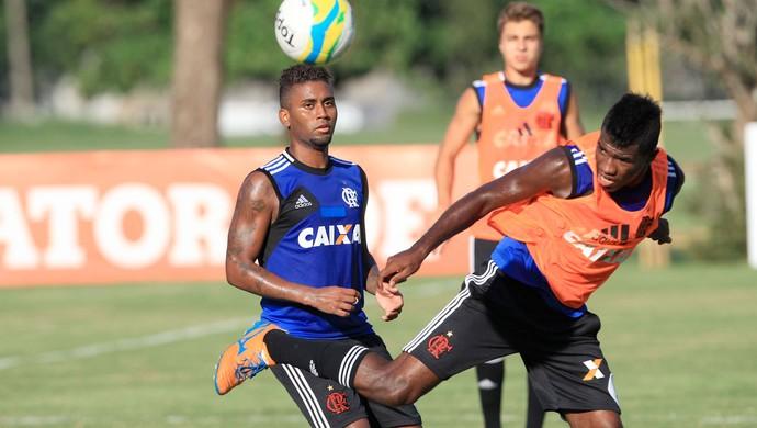 Muralha e Feijão treino Flamengo (Foto: Márcio Mercante/Agência Estado)