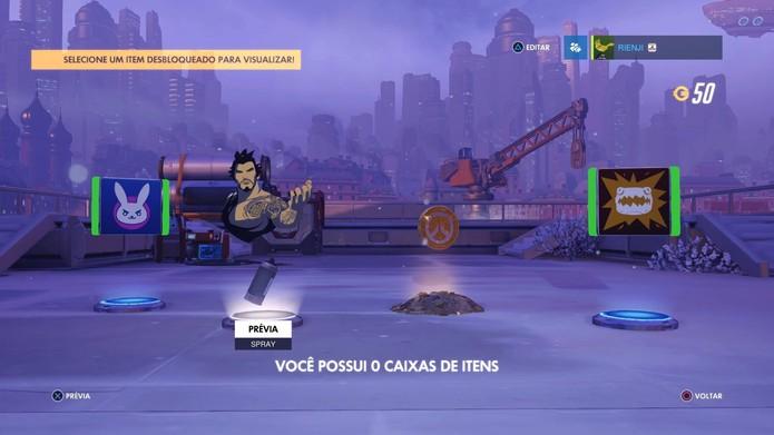 A caixa aberta em Overwatch (Foto: Reprodução/Felipe Vinha)