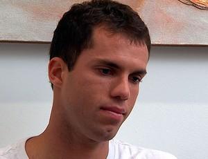 marcelo lomba chora em entrevista ao globo esporte bahia (Foto: Reprodução/TV Bahia)