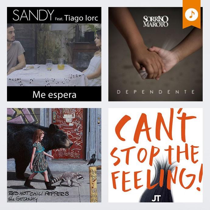Sandy e Tiago Iorc, Sorriso Maroto, Red Hot Chili Peppers e Justin Timberlake nos lançamentos da semana (Foto: Divulgação)