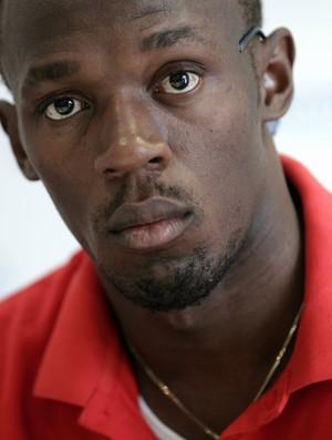 Bolt, em Lausanne: 'Só quero terminar a temporada sem lesões' (Foto: Reuters)