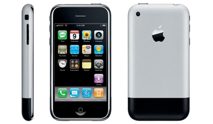 Primeiro iPhone, conhecido também como iPhone 2G (Foto: Divulgação/Apple)
