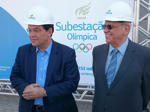 Ministro Eduardo Braga esteve no Rio de Janeiro nesta sexta para visitar Subestação do Parque Olímpico na Barra da Tijuca (Foto: José Lins / Divulação Furnas)