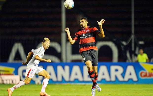 Wallace Flamengo jogo Bangu (Foto: Fábio Castro / Agif / Agência Estado)