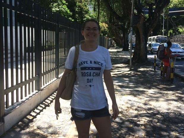 Cleide Oliveira, moradora do bairro do Campo Grande (Foto: Henrique Mendes / G1)