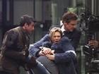 Renée Zellweger grava cena do filme 'O bebê de Bridget Jones' em Londres