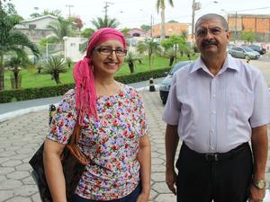 Francinilda reclamou de falta de remédios para quimioterapia no FCecon (Foto: Suelen Gonçalves/G1 AM)