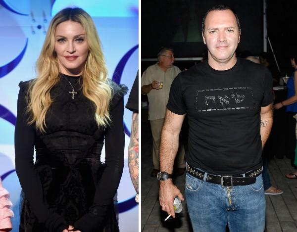 A cantora Madonna e seu irmão, Christopher Ciccone (Foto: Getty Images)