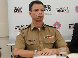 Coronel da Polícia Militar Márcio Martins Sant'anna, Comandante-geral da PM de Minas Gerais. (Foto: Cristina Moreno de Castro/G1)