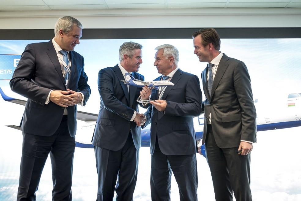 Embraer fecha acordos na Paris Air Show para vendas de aerovanes (Foto: Divulgação/Embraer)