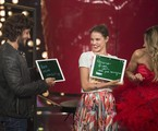 Chay Suede e Laura Neiva com Fernanda Lima no 'Amor & sexo' | Globo / Maurício Fidalgo