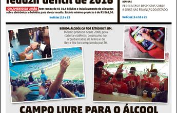 """""""Zero Hora"""" flagra consumo de álcool e outras drogas na Arena e Beira-Rio"""