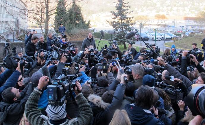 jornalistas, assessoria de Michael Schumacher (Foto: Felipe Siqueira)