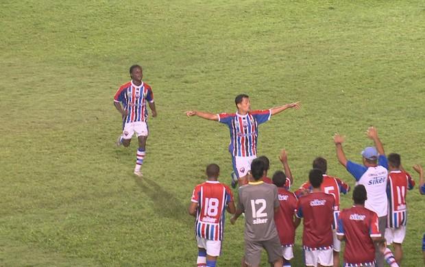 Maranhão venceu o Bacabal por 2 a 0 no Nhozinho Santos (Foto: Reprodução/TV Mirante)