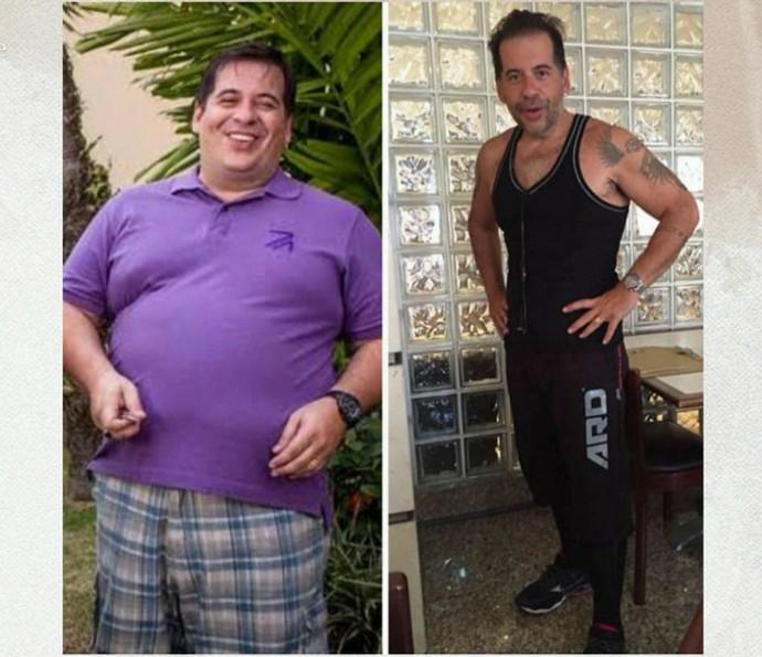 O antes e depois de Leandro Hassum é impressionante! (Foto: TV Globo)