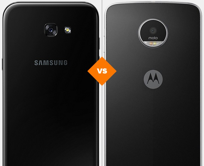 Galaxy A7 2017 ou Moto Z Play: veja qual celular se sai melhor no comparativo (Foto: Arte/TechTudo)
