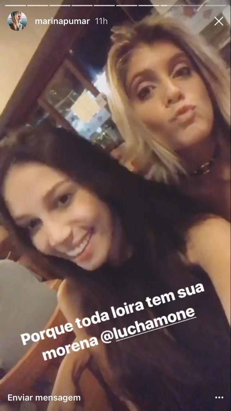 Luciana CHamone e Marina Pumar (Foto: Instagram/Reprodução)