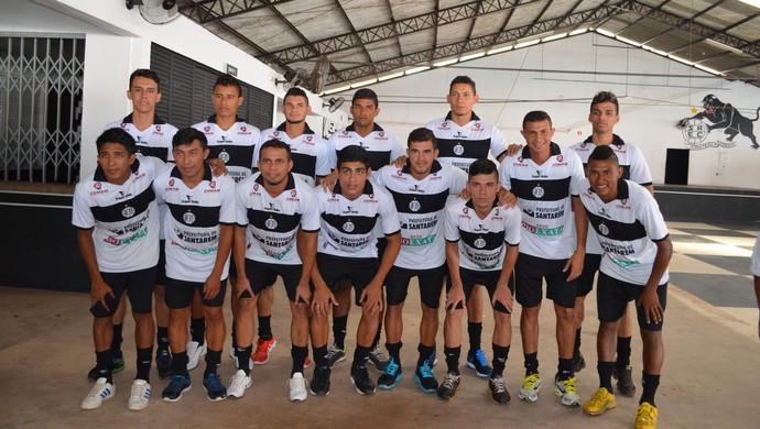 Apresentação dos jogadores do São Raimundo para o Parazão 2016 (Foto: Michael Douglas/ GloboEsporte.com)