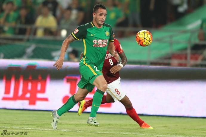 Renato Augusto, Beijing Guoan x Guangzhou Evergrande (Foto: Reprodução / sina.com)