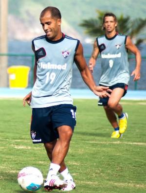 Felipe e Diguinho no treino do Fluminense (Foto: Bruno Haddad / Fluminense. F.C.)