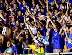 Torcida do Cruzeiro comemora 22 anos do maior público do Mineirão (Foto: Washington Alves / Vipcomm)