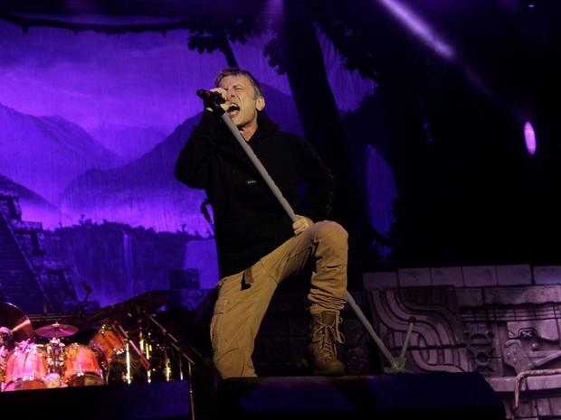 Bruce Dickinson, vocalista do Iron Maiden, em show em Fortaleza (Foto: Arte Produções/Divulgação)