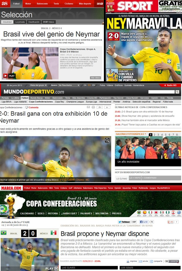 repercussão Neymar Espanha (Foto: Reprodução)