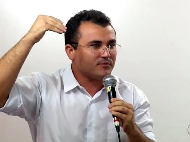 Freitas Júnior é candidato a prefeito de Natal pela Rede Sustentabilidade (Foto: Reprodução/Inter TV Cabugi)