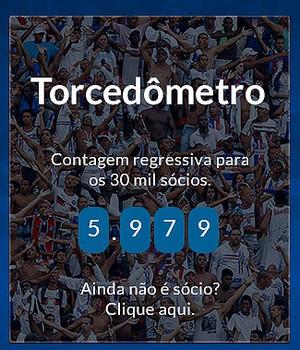 Torcidômetro do Bahia (Foto: Reprodução/Site oficial)