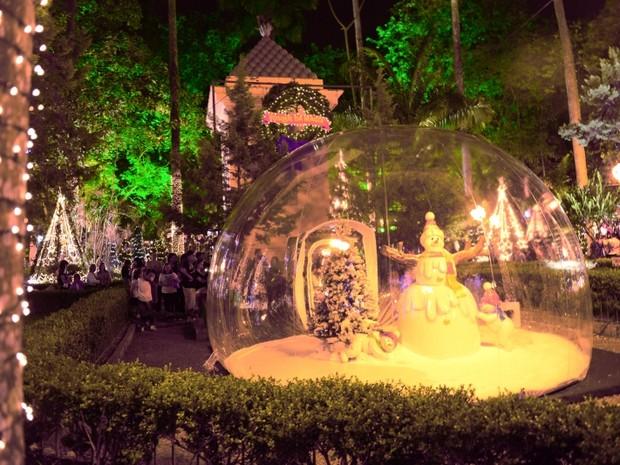 Praça XV terá a Casa do Papai Noel inaugurada nesta quinta (10) (Foto: Prefeitura de Florianópolis/Divulgação)