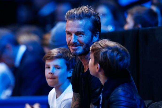 David Beckham e os filhos - Nadal x Djokovic - atp finals tênis (Foto: Getty Images)