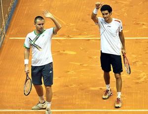 André Sá e Michal Mertinak vencem no Brasil Open tênis (Foto: AFP)