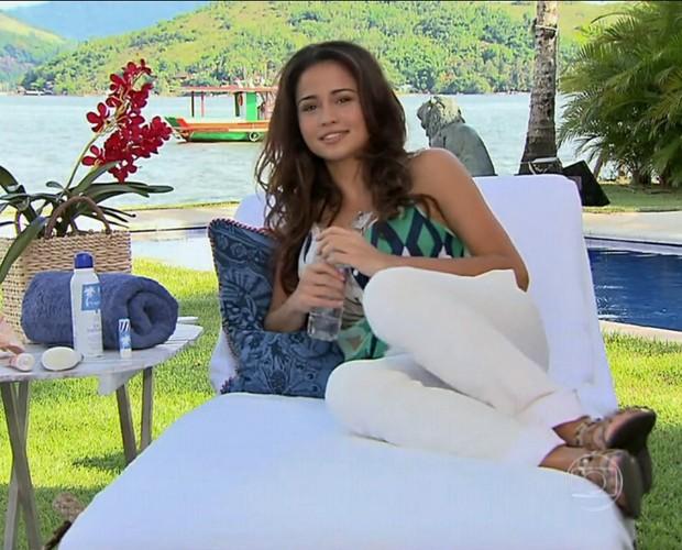 Nanda Costa dá dica de beelza para o verão (Foto: TV Xuxa/TV Globo)