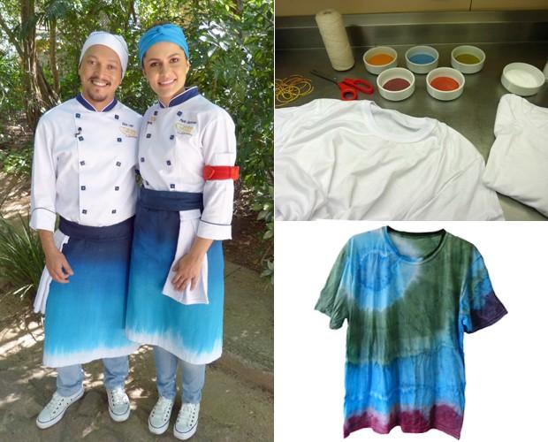 Faça você mesmo uma camiseta tie-dye no estilo do avental do Super Chef (Foto: Mais Você/TV Globo)