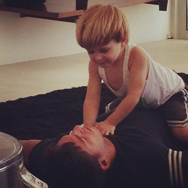 Amaury Nunes com Guy (Foto: Reprodução/Instagram)