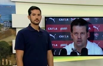 """Castellucci aponta Vitória """"sem vontade"""" na derrota para o Cruzeiro"""