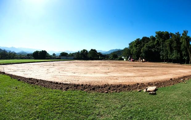 Fluminense construção campo em Xerém (Foto: Divulgação / Site Oficial do Fluminense)