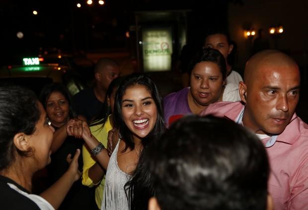 Ex-BBB Munik em festa em restaurante na Zona Oeste do Rio (Foto: Marcos Serra Lima/ EGO)