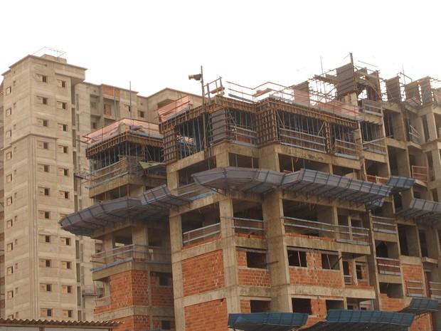 Segmento da construção civil é um dos responsáveis pelo PIB do Tocantins (Foto: Elisangela Farias/G1 TO)
