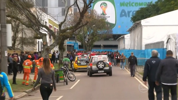 Arena da Baixada se prepara para receber o primeiro jogo da Copa (Foto: Reprodução)
