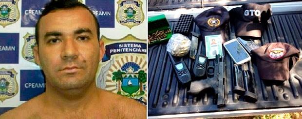 Samarone Pereira de Carvalho, de 38 anos, foi morto pela polícia; material encontrado com ele foi apreendido (Foto: Vinycius Targino/G1)