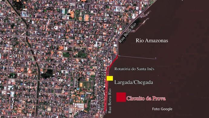 Percurso da Corrida Antonio Assmar corrigido/AP (Foto: Globoesporte.com/AP)