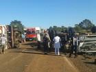 Motorista morre e passageiro fica ferido em acidente na BR-262 em MS