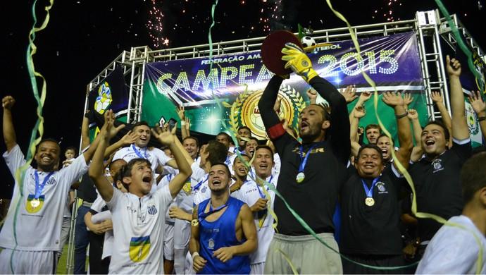 Santos-AP é o campeão do Amapazão 2015 (Foto: Rafael Moreira/GE-AP)