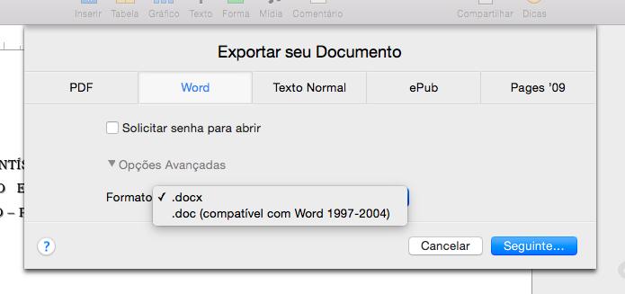 Caso necessário, altere o formato do arquivo (Foto: Reprodução/Helito Bijora)